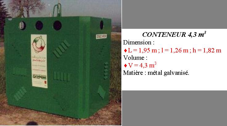Conteneur recyclage fer