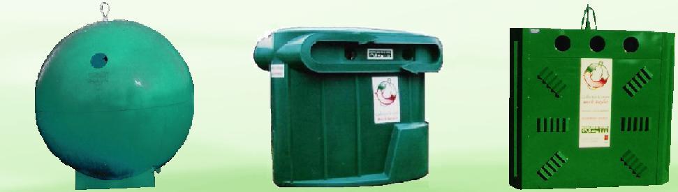 Conteneur de recyclage, tri sélectif